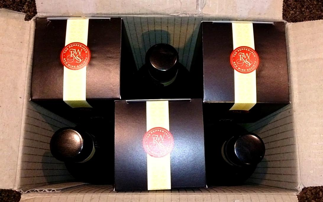 pepperjack shiraz bottles in box