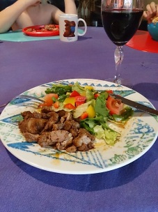 PJ Shiraz with Greek Lamb